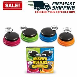 Recordable Answer Buzzers Personalized Sound Talking Button Set Dog Training