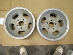 Vintage Aluminum 5 Slot 14 X 7 4 3 4 In Bolt Pattern Gm