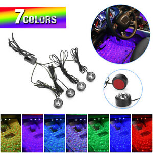 Usb Car Led Atmosphere Lamp Star Light Sound Control Interior Seat Ambient Decor