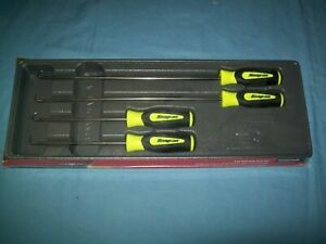 New Snap on Hi Viz Yellow Soft Handled 4pc Pick Set Sglash1204bhv Sealed