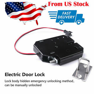 2a Iron Secure Electric Door Release Rim Mortice Lock Strike Dc12v Cabinet In Us
