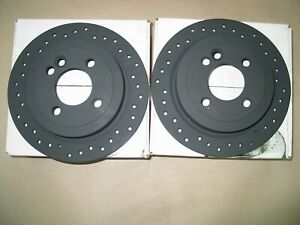 2002 2006 Mini Cooper Sport Street Stoptech Cross Drilled Rear Brake Rotors