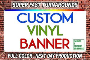 3 x6 Custom Vinyl Banner full Color High Quality Free Design Included