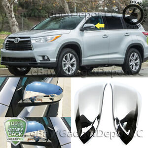 Rearview Chrome Mirror Cover Fit For Toyota Highlander 2014 2015 2016 2017 2018