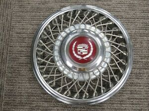 1980s 14 Inch Cadillac Wire Spoke Wheel Hub Cap Center Cap Retainer