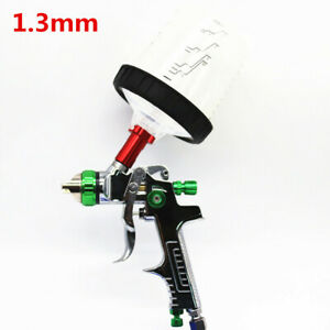 1 3mm Stainless Steel Nozzle Auto Feed Paint Hvlp Spray Gun Pps Tank W Adapter