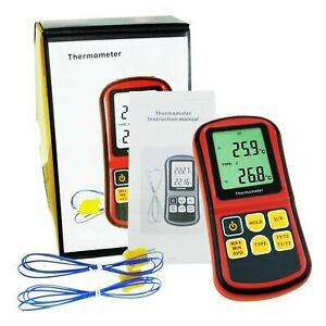 Dual Channel K j t e r s N Type Atc Thermocouple Thermometers Tester Reliable