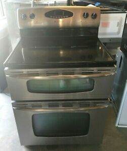 30 Stainless Steel Maytag Gemini Double Oven Electric Range W True Convection