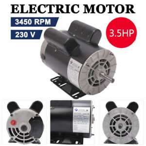 5hp 3450rpm Air Compressor Duty Electricity Motor 1phase 56 Frame 7 8 Shaft