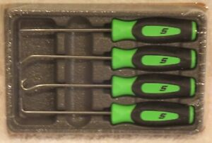 new Snap on Pick Set Sgasa204cg green Soft Handles Brand New Sealed