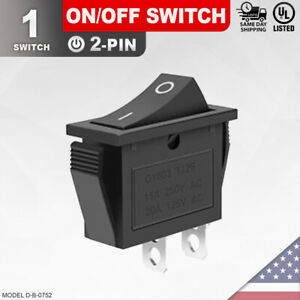 Heavy Duty On off Switch 2 pin Toggle Rocker Push Button Led Car Spst
