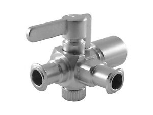 Cadence Science 6011 Plated Brass 3 way Stopcock Female Luer To Male Luer Lo