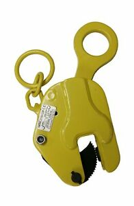 V lift Industrial Vertical Plate Lifting Clamp Steel 1763 Lb Wll 8t With Lock