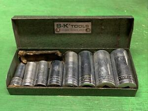 Sk Tools 3 8 Drive Deep Sae Socket Set All Are 6 Point