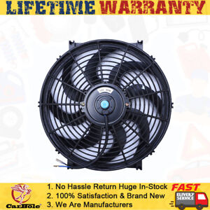 14 Electric Radiator Fan High 900 Cfm Thermostat Wiring Switch Relay Kit 12v