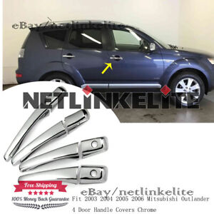 Fit 2003 2004 2005 2006 Mitsubishi Outlander 4 Door Handle Covers Chrome