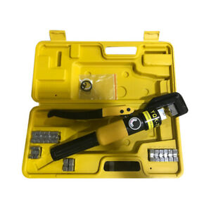 Hydraulic Wire Battery Cable Lug Terminal Crimper Crimping Tool 10 Ton New