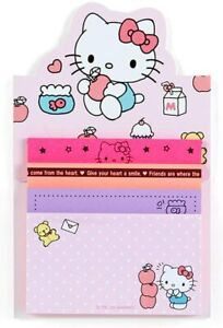 Hello Kitty Memo Pad 4 Designs Sanrio Japan Kawaii Stationery