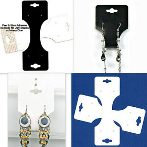 Closeout Combo Necklace Earrings Jewelry Display Foldover Hang Tags 1000 Pc Lots