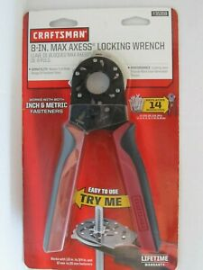 New Craftsman 8 Inch Max Axess Locking Wrench Replaces 14 Wrenches 935359