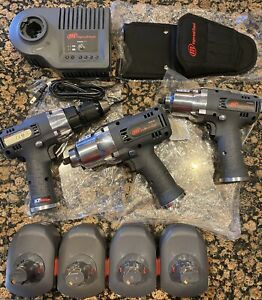 Ingersoll Rand Cordless 3 8 1 2 Impacts And 1 2 Drill Charger 4 Batteries