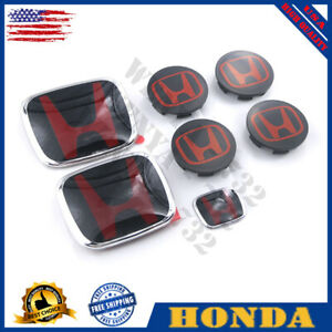 7pcs Set H Emblem Front Rear Steering Wheel Caps For Honda Civic Sedan 4dr 16 20