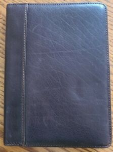 Franklin Covey Brown Leather Claasic Folio 1 2