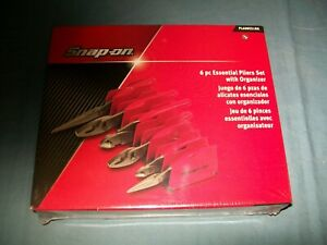 New Snap On 6 Pc Heavyduty Pliers Set Pl600es1pk Red Sealed