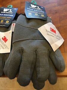 X2 Pair Wells Lamont 716 Large Insulated Jersey Cold Weather Work Gloves