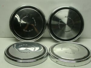 4 Nice Used Vintage Ford Dog Dish Center Caps Poverty Fomoco 10 1 2 1968 1973
