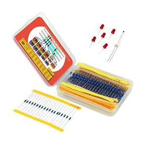 Resistor Assortment Kit Set Of 600 Assorted Resistors From 10 Ohm To 1 Mohm
