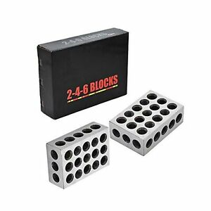 1 Pair Ultra Precision 2 4 6 Blocks 23 Holes Matched 0002 Machinist 246
