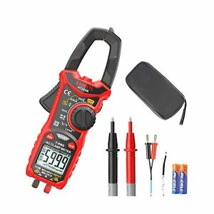 Kaiweets Digital Clamp Meter T rms 6000 Counts Multimeter Voltage Tester Aut