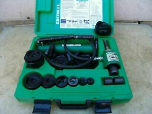 Greenlee 7310 Hydraulic Knock out Punch And Die 1 2 To 4 7 1 5