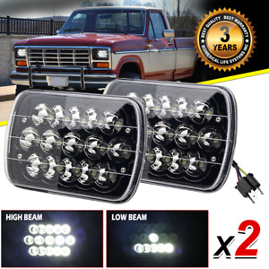 7x6 5x7 inch Led Headlights Hi lo Beam Projector For Ford F 150 E 350 E 250