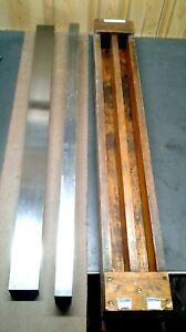 2 Precision Machinist Straight Edges 35 In Wood Box ms 176