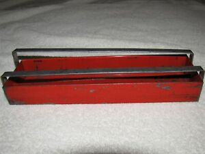 Vtg 1965 Snap On Tools Red Socket Set Storage Holder Organizer Tray Kta 242 Usa