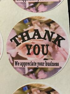 Thank You Stickers Quantity 30 Size 1 5 Shape Round