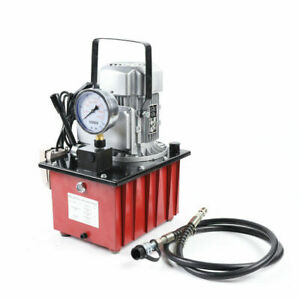 Electric Driven Hydraulic Pump 750w Single Acting Manual Valve 10000 Psi 110v Us