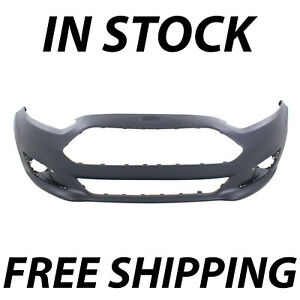 New Primered Front Bumper Cover Fascia For 2014 2019 Ford Fiesta Sedan Hatch