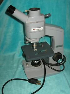 Ao Spencer American Optical One Sixty Student Microscope Monocular 2 Lenses