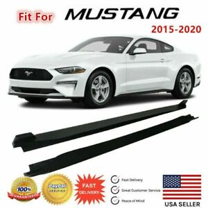 Fit For 2015 2020 Ford Mustang Side Skirts Under Board Extension Panel Body Kit