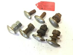 Used Original Bumper Bolts Foot Bolts Oval Bolts 1941 46 Chevy Gmc Truck Set 7