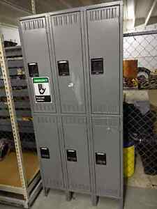 Tennsco Storage 6 compartment School Gym Work Double Tier Lockers Metal Cubbies