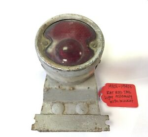 Used Original Rat Rod Tail Light Assembly W Bracket For 1930 s 1940 s Chevy