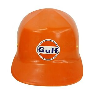 Vintage Ed Bullard Orange Hard Boiled Hard Hat Usa Made Gulf Oil Field Gas Co