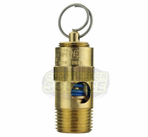 275 Psi 3 8 Male Npt Air Compressor Safety Relief Pop Off Valve Solid Brass New