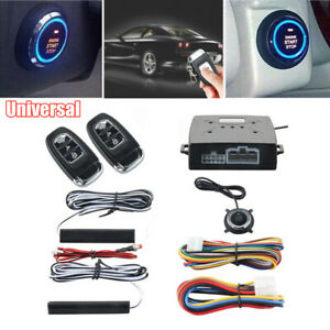 Car Alarm System With Pke Passive Keyless Entry Push Remote Engine Start Stop