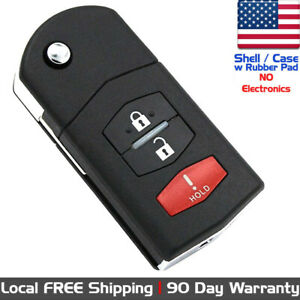 1x New Keyless Entry Remote Control Key Fob Case Shell For Mazda Cc43 67 5ryc