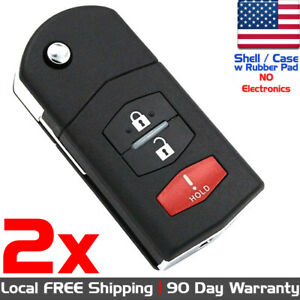 2x New Keyless Entry Remote Control Key Fob Case Shell For Mazda Cc43 67 5ryc